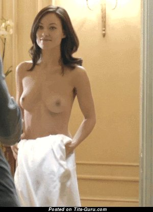 Image. Nude wonderful woman with medium natural boobies gif