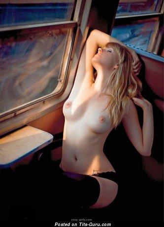 Image. Hot lady with medium natural tits photo