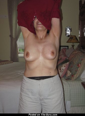 Milf Mary - Handsome Brunette Mom, Housewife, Wife & Nerd with Nice Bare Natural Boobys is Undressing (Amateur 4k Porn Image)