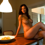 Brunette with big tots image