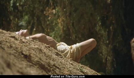 Bo Derek - Splendid American Gal with Splendid Open Real Boob (Vintage Hd Sexual Wallpaper)