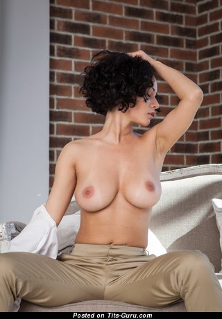 Image. Nude amazing woman with medium natural boobs photo