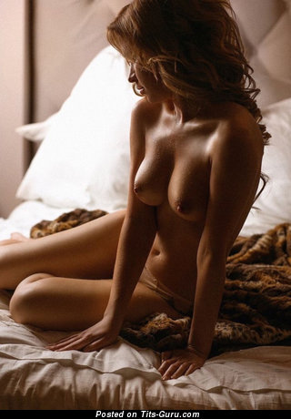 Image. Sexy amazing lady with medium natural breast pic