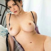 Sexy topless asian with medium natural tits image
