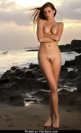 Image. Nude awesome female with medium tittes photo