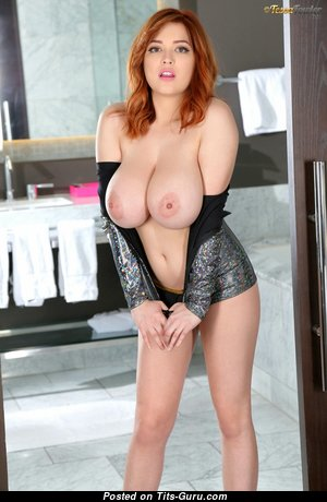 Tessa Fowler - The Best Non-Nude, Glamour & Topless American Red Hair Babe, Pornstar & Actress with The Best Natural Giant Hooters, Erect Nipples, Sexy Legs in Lingerie is Doing Fitness (Leaked Hd Porn Pix)