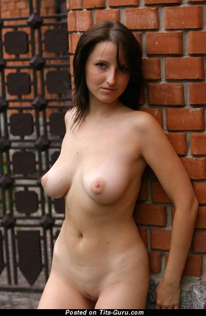 Natasha - The Best Russian Brunette with The Best Bald Natural Med Tit & Huge Nipples (Hd Xxx Picture)