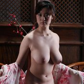 Asian with big natural boobs and big nipples image