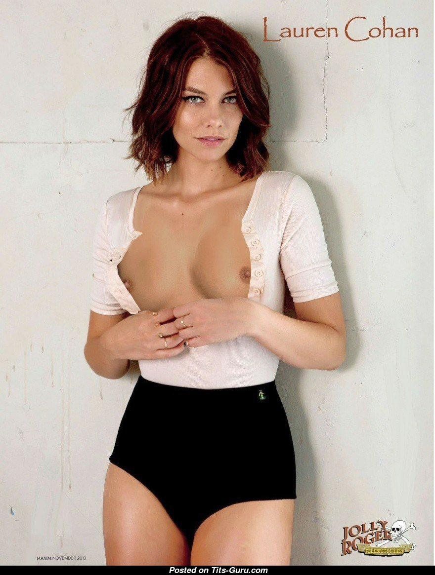 Lauren Cohan - Babe  Actress With Open Small Boobie Is -5363