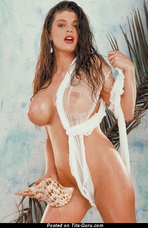 Image. Naked wonderful female with huge fake tittes image