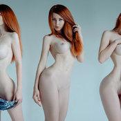 Anzhelika Markiza - red hair with big tots photo