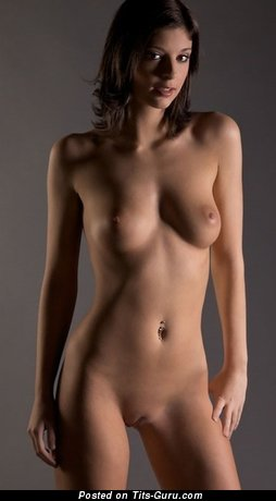 Image. Nude hot lady with medium natural boobies pic