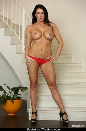 Reagan Foxx - Elegant American Red Hair Pornstar with Elegant Bare Fake Breasts (Hd Xxx Photo)