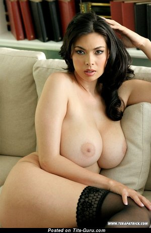 Image. Nude brunette with huge tots picture