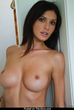 Image. Hot lady with medium natural breast image