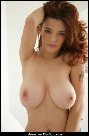 Fine Red Hair with Fine Open Real C Size Boobs & Puffy Nipples (Sexual Photo)