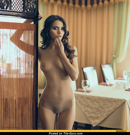Image. Naked beautiful woman with small natural tittys photo