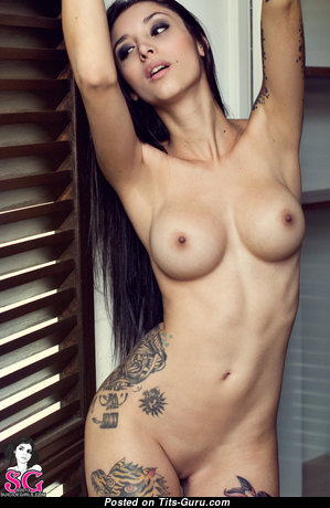 Ginebra (suicidegirls) - Marvelous Topless Honey with Marvelous Nude Natural Tittes & Tattoo (Hd 18+ Picture)