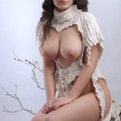 Awesome female with big natural breast image