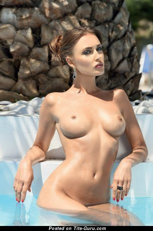 Image. Naked awesome girl with medium natural tittys image