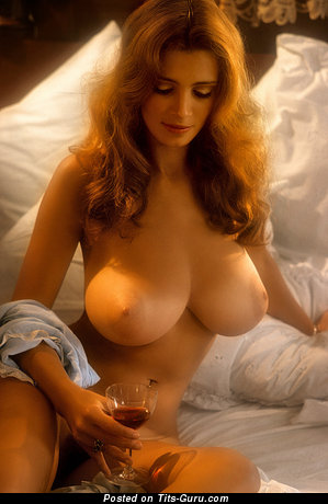 Image. Janet Lupo - nude brunette with huge natural boob vintage