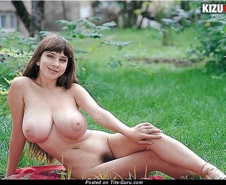 Yulia Nova - Perfect Russian Lassie with Perfect Bald Real Sizable Breasts (Porn Photo)