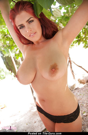Robyn Alexandra - sexy topless red hair with natural tots and big nipples picture