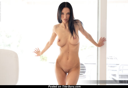 Anastasya B - Exquisite Topless & Glamour Brunette Pornstar with Erect Nipples, Sexy Legs (Hd Sexual Image)