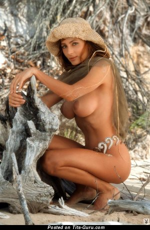 Shannon Long - Yummy Australian Playboy Babe with Yummy Exposed Mid Size Tits (Porn Wallpaper)