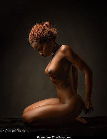 Image. Naked ebony red hair image