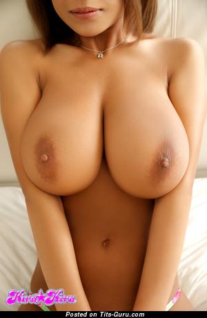 Ria Sakuragi - topless asian brunette with big natural tots and big nipples picture