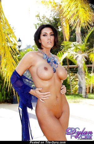 Image. Dylan Ryder - sexy topless brunette with medium boob photo