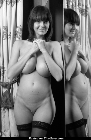 Image. Naked awesome woman with huge natural tittes vintage