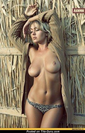 Image. Nude wonderful girl with medium natural boobs image