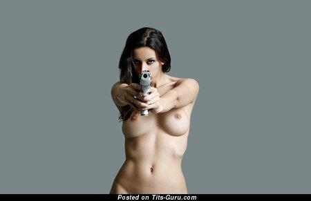 Image. Nude wonderful girl with medium tots photo