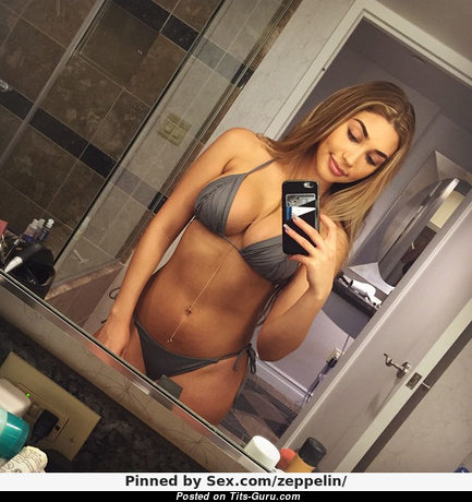 Chantel Jeffries - Alluring Non-Nude American Red Hair with Alluring Natural Firm Boobs in Bikini (Selfie Xxx Foto)