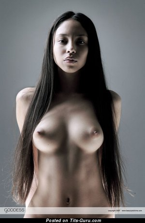 Superb Honey with Superb Bare Tight Titties (Sexual Pic)