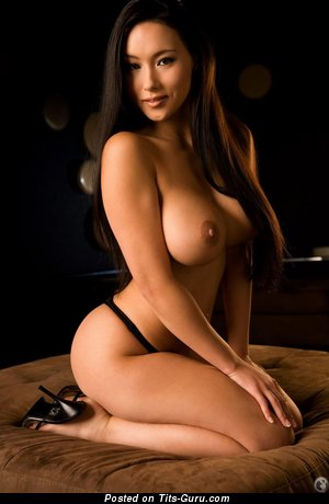 Image. Julri Waters - topless asian brunette with big tittes photo