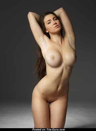 Image. Naked beautiful lady with medium boob photo