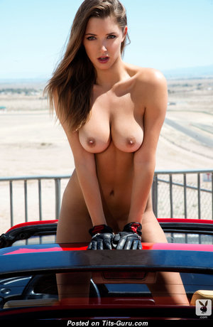 Sweet Babe with Sweet Naked Natural Dd Size Tits (Hd Porn Image)
