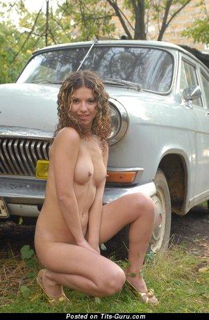 Image. Naked hot lady with medium natural boob photo