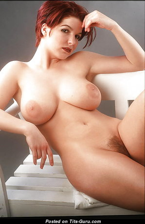 Exquisite Playboy Dish with Exquisite Bald Natural Tits (Sexual Photoshoot)