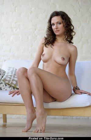 Image. Nude beautiful woman with medium natural tits pic