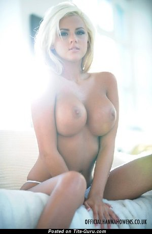 Image. Topless blonde with big fake tittys picture