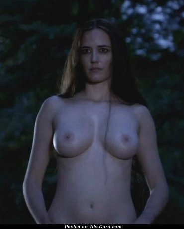 Eva Green - Exquisite French Actress with Exquisite Bald Real Mid Size Boobie (Sexual Wallpaper)