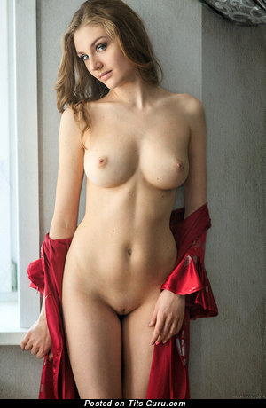 Pleasing Dame with Pleasing Nude Medium Busts (Hd 18+ Photoshoot)