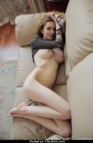 Image. Awesome girl with natural breast photo