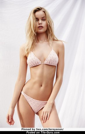Frida Aasen - Amazing Non-Nude Blonde Babe with Amazing Natural Short Hooters & Sexy Legs in Lingerie & Panties (Xxx Photoshoot)