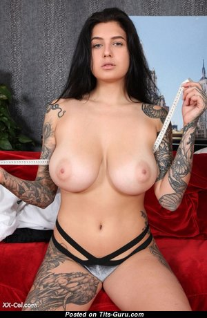 Graceful Doll with Graceful Bare Natural Med Titties & Tattoo (Xxx Picture)