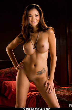 Image. Jennie Reid - sexy naked brunette with big fake boobs image
